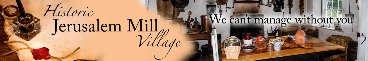 historic Jerusalem Mill Village - Picture of ink pot and wax