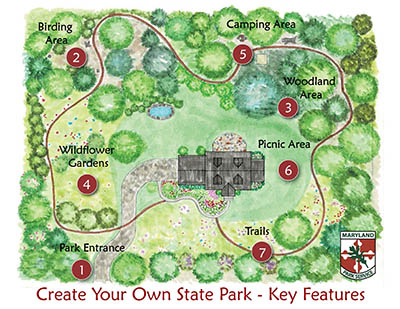 Create Your Own State Park - Key Features